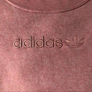 Adidas Pink Embroidered Logo Sweatshirt